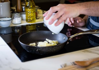 Manteca en sarten