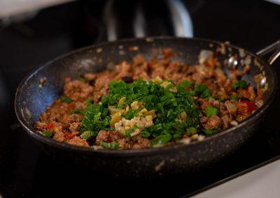 Relleno de carne con verduras